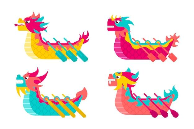 Tema da coleção do barco do dragão