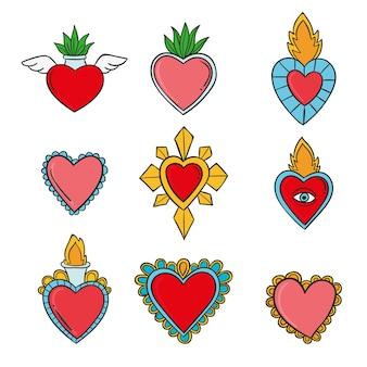 Tema da coleção do coração sagrado