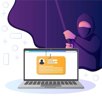 Tema da conta de phishing