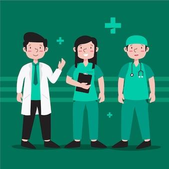 Tema da equipe profissional de saúde
