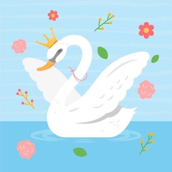 Tema da ilustração da princesa cisne