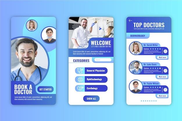 Tema da interface do aplicativo de reserva médica