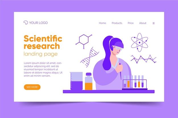 Tema da página de destino da pesquisa científica