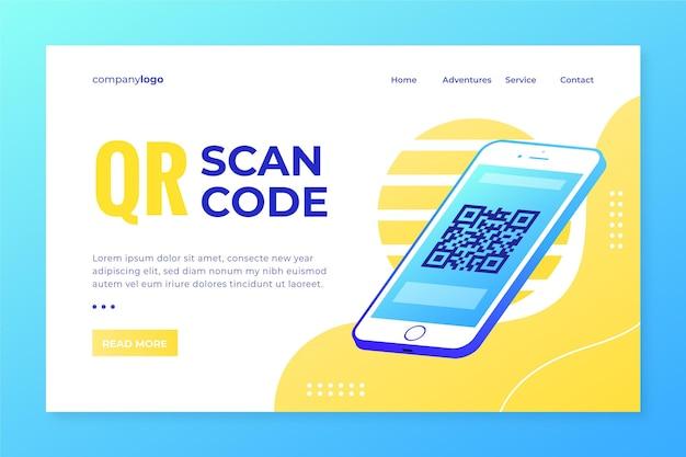 Tema da página de destino da verificação de código qr