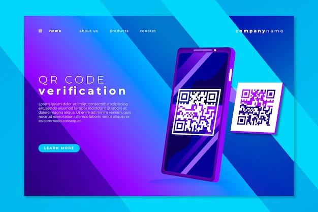 Tema da página de destino do código qr