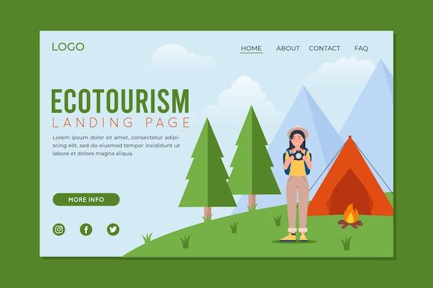 Tema da página de destino do ecoturismo