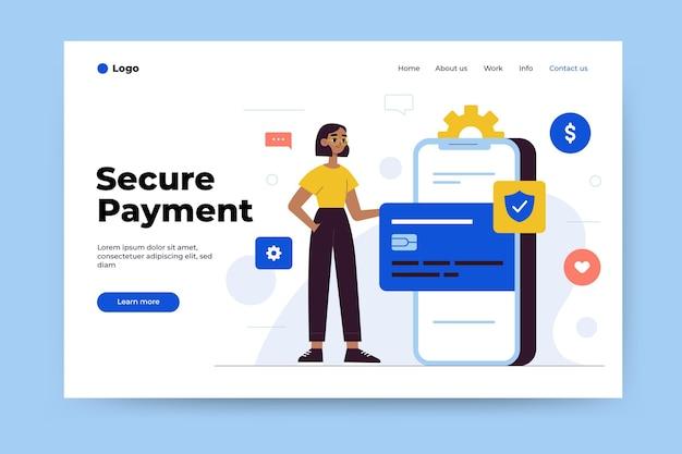 Tema da página de destino do pagamento seguro