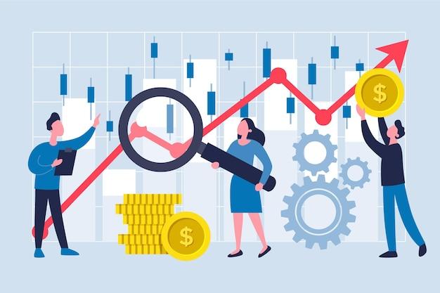 Tema de análise do mercado de ações