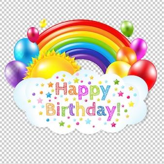 Tema de aniversário isolado com ilustração de malha gradiente