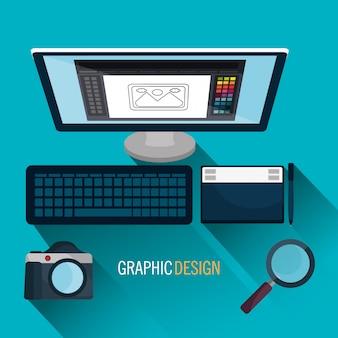 Tema de arte e profissão de design gráfico