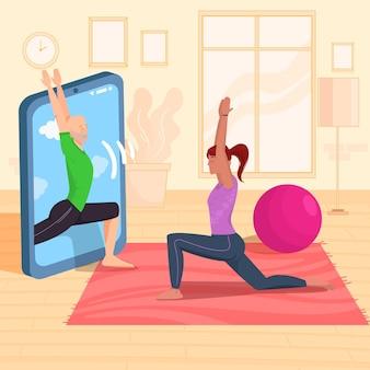 Tema de aula de ioga online
