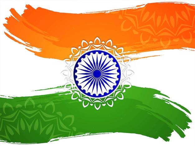 Tema de bandeira indiana fundo do dia da república