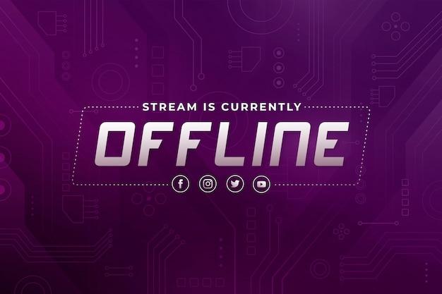 Tema de banner abstrato contração offline