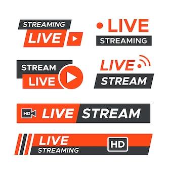 Tema de banners de notícias de transmissão ao vivo