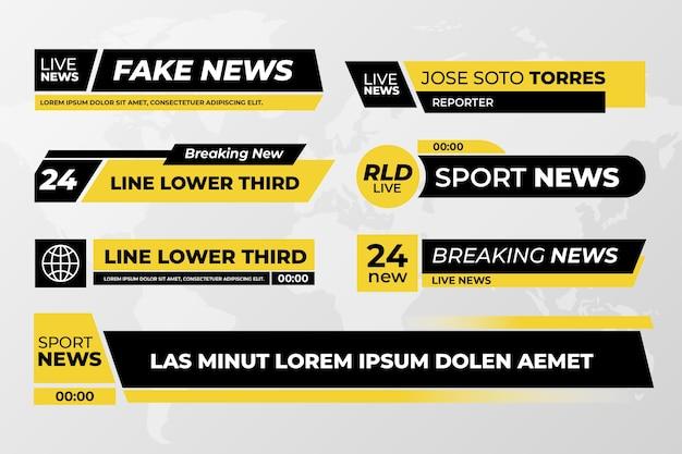 Tema de banners de notícias de última hora