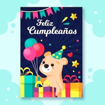 Tema de cartão de feliz aniversário
