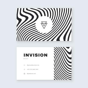 Tema de cartão de visita conceito de linhas distorcidas