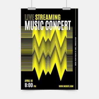 Tema de cartaz de concerto de música de transmissão ao vivo