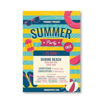 Tema de cartaz de festa de verão