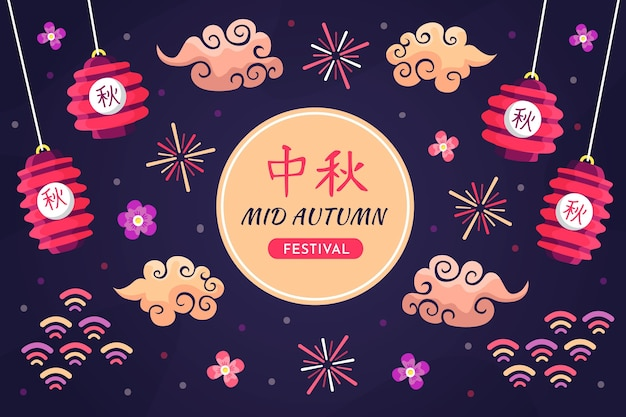 Tema de celebração do festival do meio do outono