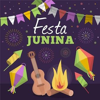 Tema de celebração festa junina