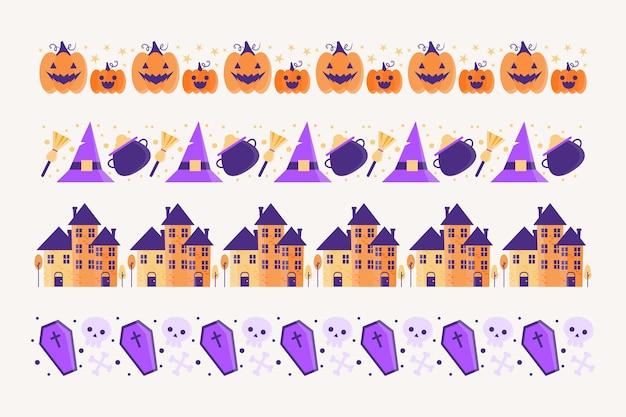 Tema de coleção de bordas de halloween