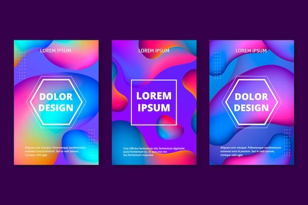 Tema de coleção de capa colorida abstrata