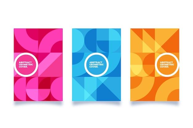 Tema de coleção de capa geométrica abstrata