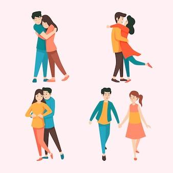 Tema de coleção de casal de dia dos namorados