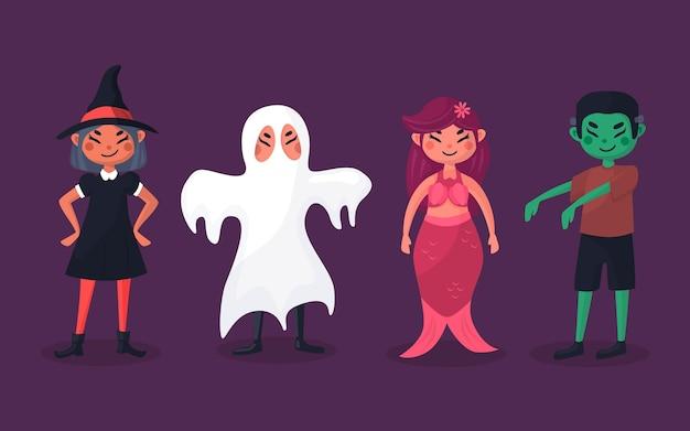 Tema de coleção de criança de halloween