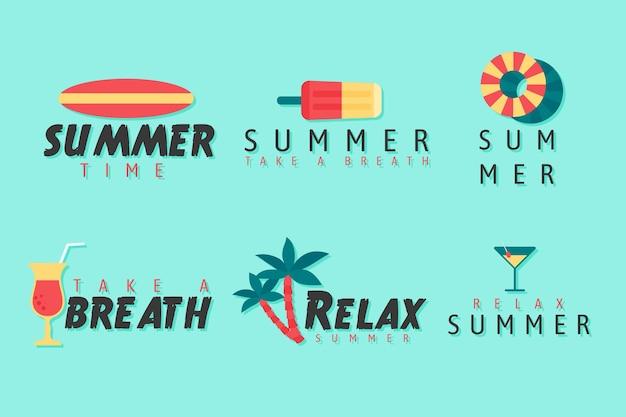 Tema de coleção de distintivo de verão