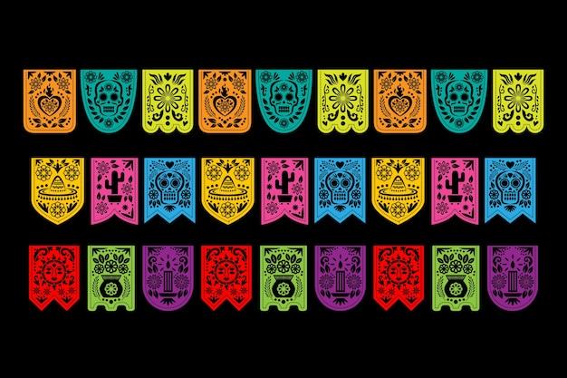 Tema de coleção de estamenha mexicana