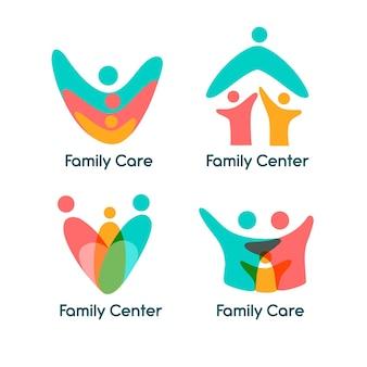 Tema de coleção de logotipo de família