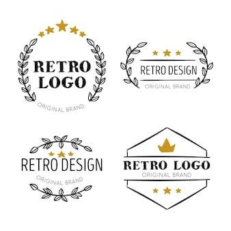 Tema de coleção de logotipo retrô