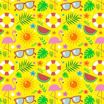 Tema de coleção de padrões de verão