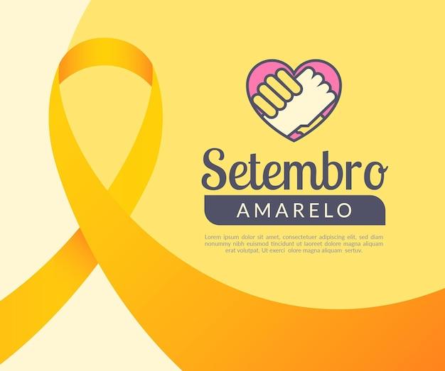 Tema de comemoração de setembro amarelo