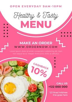 Tema de comida saudável para o modelo de cartaz