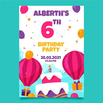 Tema de convite de aniversário infantil