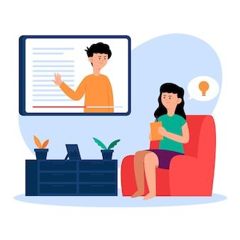 Tema de cursos on-line