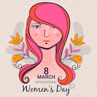 Tema de desenho de evento de dia das mulheres