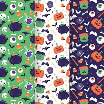 Tema de desenho de padrão de halloween