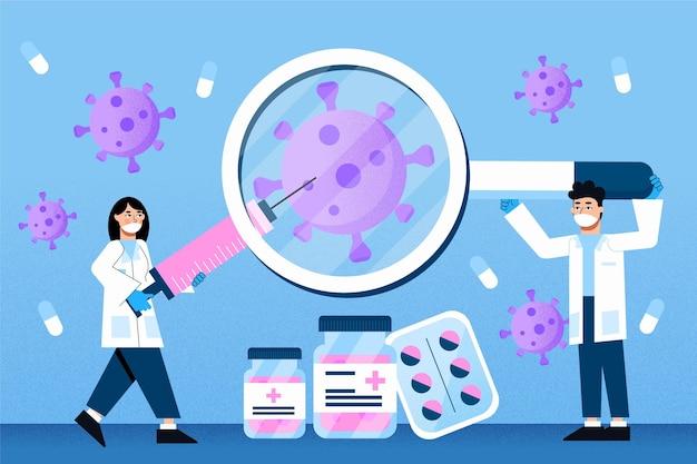 Tema de desenvolvimento de vacina contra coronavírus