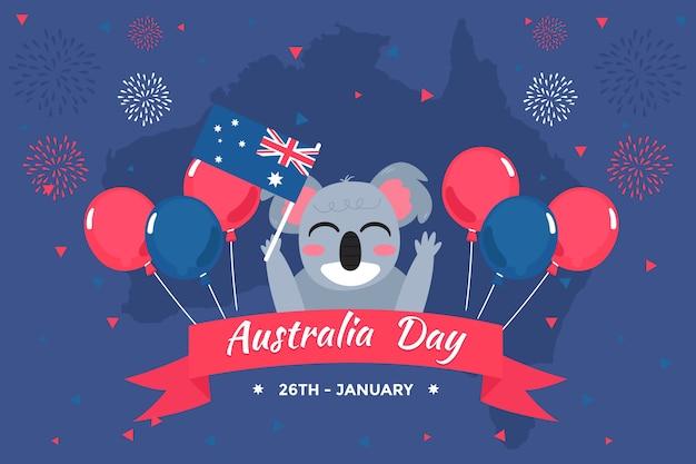 Tema de design plano para evento do dia na austrália