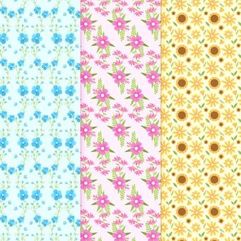 Tema de design plano primavera para coleção padrão