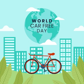Tema de dia livre de carro mundial
