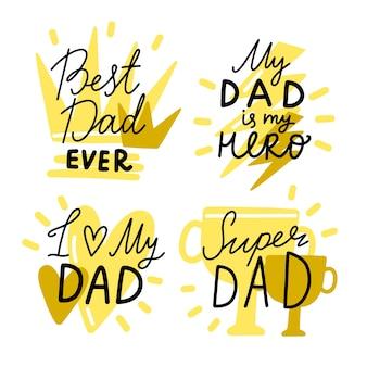 Tema de distintivos de dia dos pais