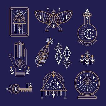 Tema de elementos esotéricos