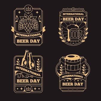 Tema de emblemas do dia internacional da cerveja