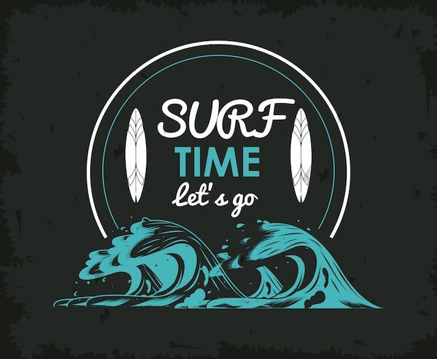 Tema de estilo de vida tropical de surf