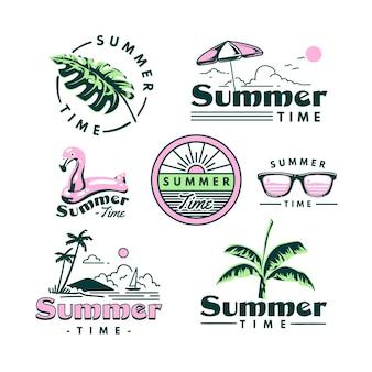 Tema de etiquetas de verão